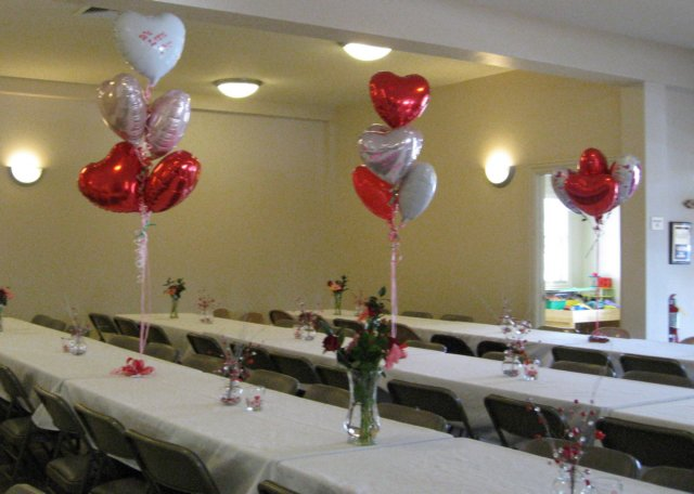 Table decorations theme valentine s day